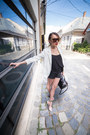 Sheinside-blazer-h-m-shorts-romwe-sunglasses-stradivarius-top