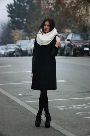 H&M scarf - Jeffrey Campbell boots - Zara coat - H&M socks