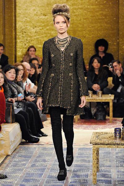 brown coat Chanel coat