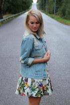 Choies top - light blue jeans Broken Arrow jacket - Choies skirt