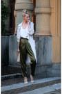 Beige-h-m-coat-tan-calvin-klein-heels-army-green-h-m-pants