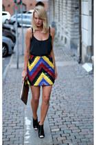 H&M skirt - asos purse - Bik Bok top