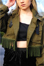 Olive-green-hardy-punglia-jacket-black-hardy-punglia-skirt