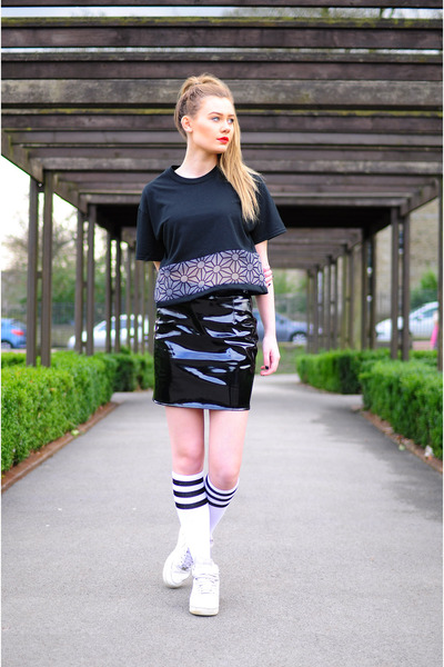 white American Apparel socks - black The Left bank by Hardy Punglia skirt