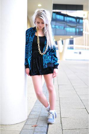turquoise blue Hardy Punglia jacket - black Hardy Punglia skirt