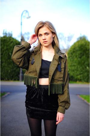 black Hardy Punglia skirt - olive green Hardy Punglia jacket