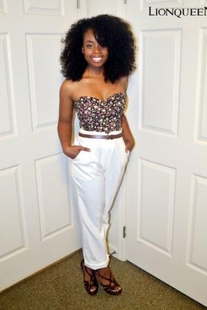bustier Pac Sun blouse - white no brand pants