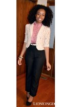cream lace Forever 21 blazer - pink romantic Forever 21 blouse