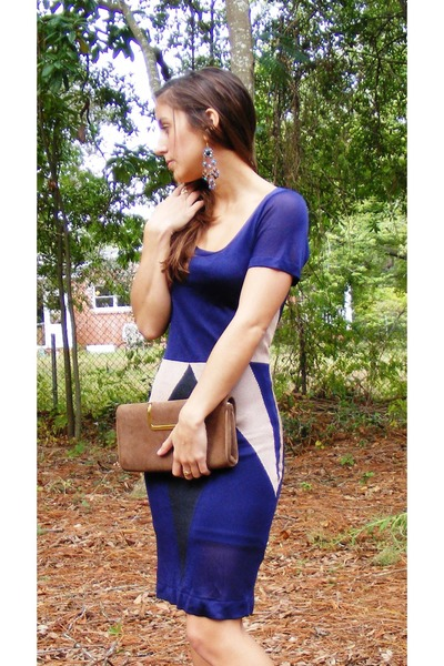 navy colorblock French Connection dress