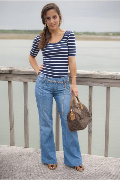 a96a67c4761 blue Paper Denim   Cloth jeans - dark brown vintage speedy Louis Vuitton  purse -