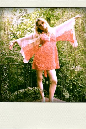 red Spanish Moss Vintage dress - orange VIntage Sunnies accessories