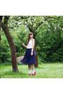 Navy-h-m-skirt