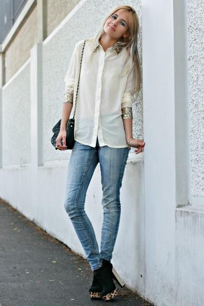 sequin romwe blouse