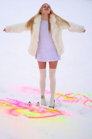 fake fur Topshop coat