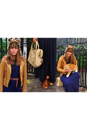 balenciaga bag - Pied A Terre shoes - balenciaga jacket - Topshop hat