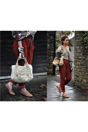 balenciaga bag - asos pants - Matiko loafers - Emilio Pucci gloves - asos ring