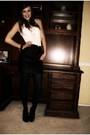 White-top-black-skirt-black-shoes-black-prada-accessories-silver-betsey-