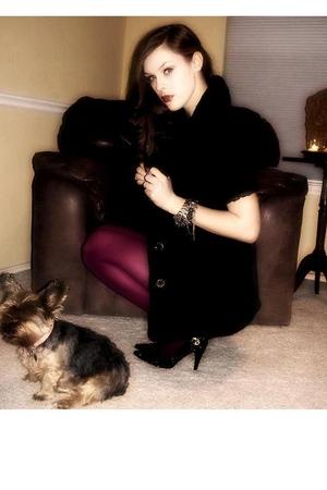 black betsey johnon dress - black - Betsey Johnson stockings - black loub shoes