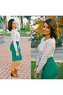 Brick-red-lolashoetique-boots-white-forever-21-shirt-green-forever-21-skirt