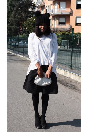 black asos hat - white Sophie Gray sweater - black Pennyblack sandals