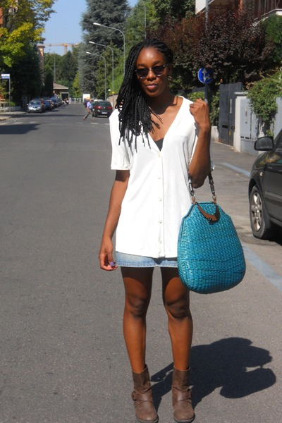 sportmax bag - Meltin Pot shirt - Primark sunglasses - La Perla bra