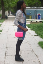 Zara bag - H&M tights - Dorothy Perkins sneakers - H&M top