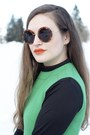Green-green-shift-vintage-dress-wolford-tights-the-row-sunglasses