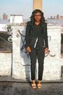 Black-leather-trimmed-helmut-lang-jacket-black-cropped-skinny-theory-pants
