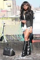 black Givenchy boots - black Helmut Lang blazer - black antigona Givenchy bag