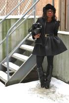 black Givenchy boots - black woolrich hat - black Faith Connexion jacket