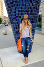 Leather-steve-madden-boots-denim-american-eagle-jeans-suede-old-navy-hat