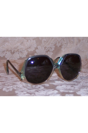 blue Givenchy glasses - green glasses