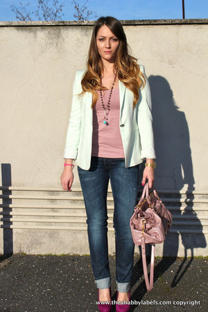 Miu Miu bag - abercrombie and fitch jeans - Zara blazer - Dorothy Perkins pumps