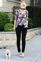black BDG jeans - deep purple flower print Staring at Stars top