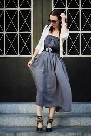 periwinkle maxi skirt Zara dress - black vintage bag