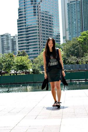 super hero Pierre Balmain t-shirt - Alexander Wang bag - Zara skirt
