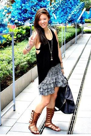 black black tank top Zara shirt - silver nightingale Givenchy bag