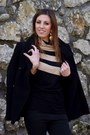 Zara-coat-ugg-boots-handmade-sweater-longchamp-bag-h-m-earrings