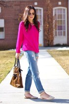 hot pink Forever 21 sweater