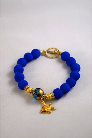 blue bead fish MintgeM bracelet