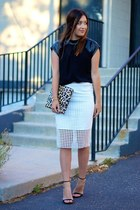white Front Row Shop skirt