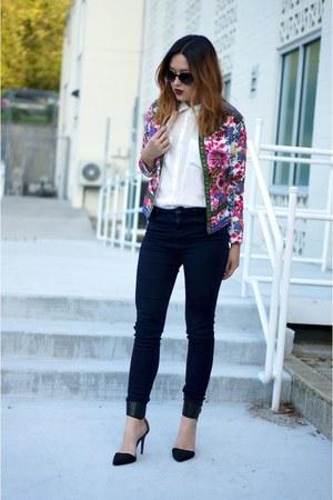 bubble gum floral Sheinside jacket