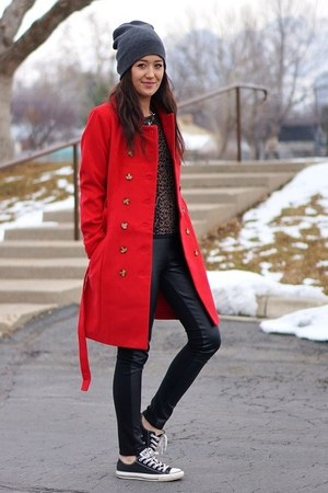 red lulus coat