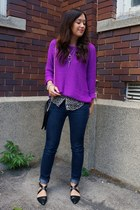 purple H&M sweater