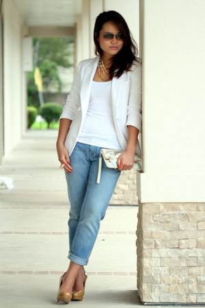 Zara blazer - Old Navy jeans - banana republic top - Joan & David pumps