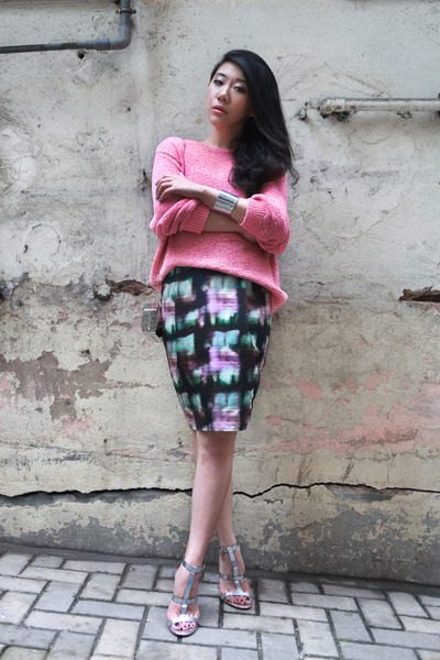 COS jumper - COS skirt - Zara sandals