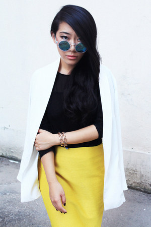 Zara blazer - Zara sunglasses - COS skirt