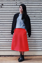 red COS skirt