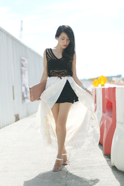white unknown brand skirt