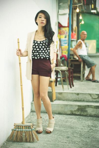 Zara shorts - H&M blazer